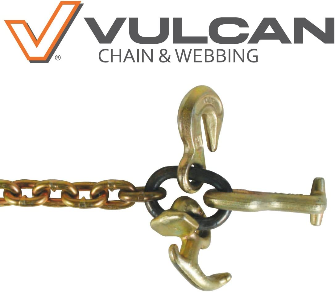 and R-Hook Safe Working Load 5//16 x 60 VULCAN Classic Grade 70 Auto Hauling Chain with Grab Hook T-Hook 4,700 lbs.
