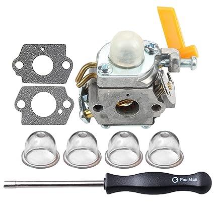 Amazon com: HIPA Carburetor with Adjustment Tool for Ryobi RY09550
