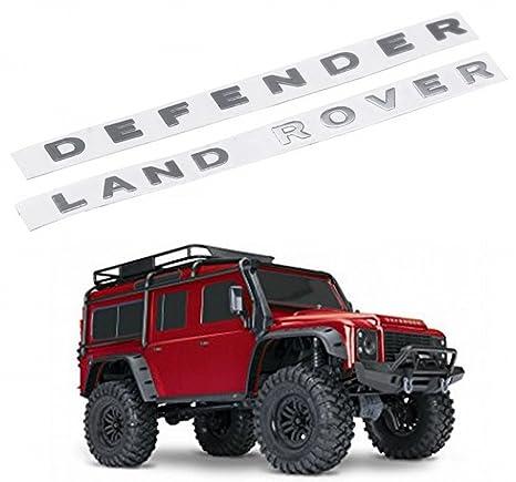 ARUNDEL SERVICES EU 1:10 RC Land Rover Defender Conjunto de logotipo de metal Etiqueta