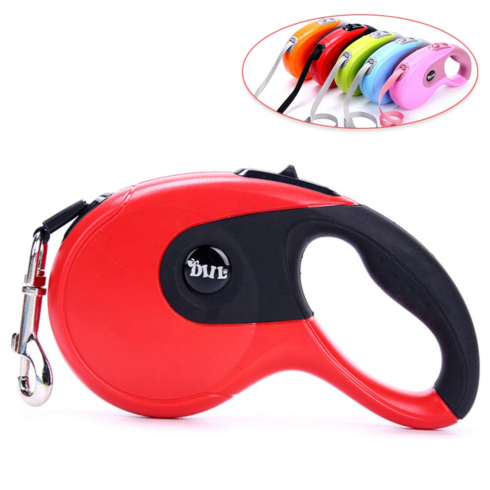 Jogging Extendable Heavy Duty Dog Leash Automatic Pet Dog Lead Leash 5M Nylon Material Large Medium Small Dogs To Training Pink Walking Galaxer Dog Lead Dogs Leash Retractable