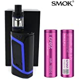 GENUINE SMOK ALIEN KIT COLLECTION 220W w/ 2 X EFEST-VAPORCOMBO Exclusive 3000 mAh Battery E-Cigarette 2mL TPD Compliant (Black/Blue)