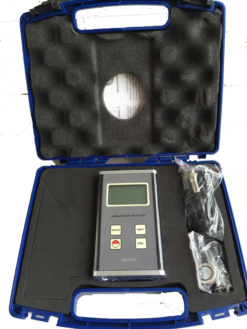 VETUS INSTRUMENTS VM-6370 Digital Vibration Meter Tester Vibrometer Gauge VM6370 with Velocity 0.01-400.0 mm/s , Black