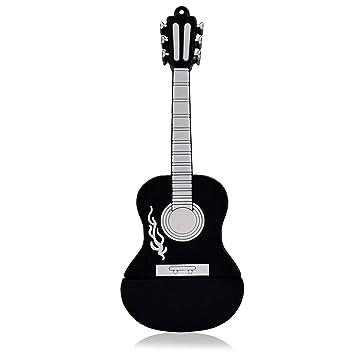 818-Tech No1110006 Hi-Speed USB-Sticks (2/4/8/16/32/64 GB) strumento guitarra country 3D colour negro (8.00|GB), color negro: Amazon.es: Informática
