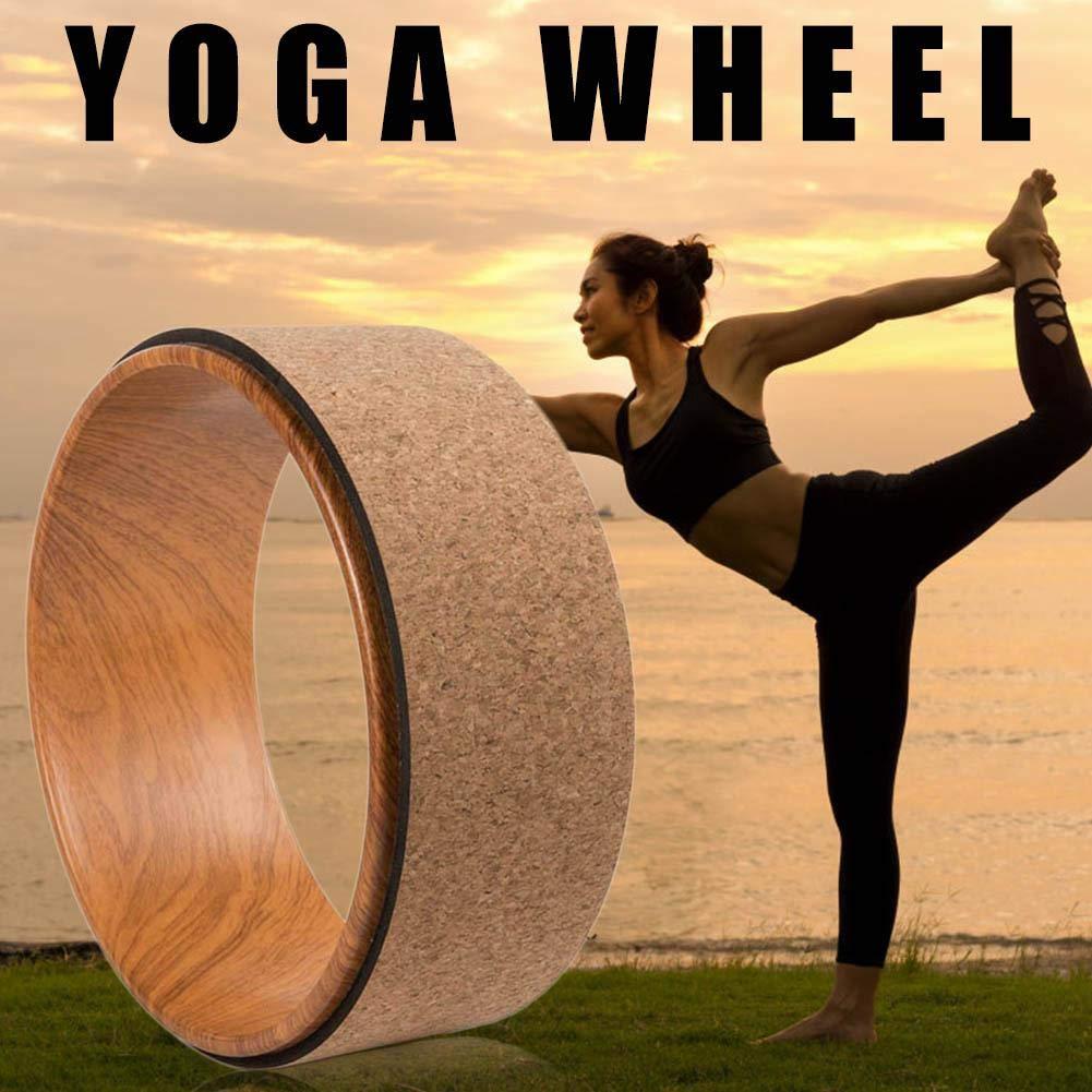 duhe189014 Rueda de Corcho para Yoga. Pro Grade, 13 Pulgadas ...
