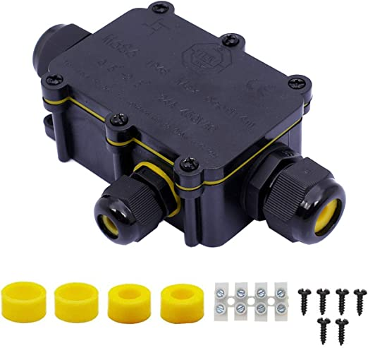 3 Way Waterproof Junction Box Underground Cable Line Protection Connectors