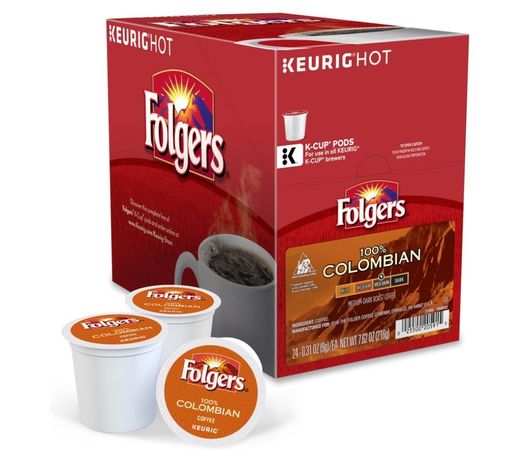 Folgers Gourmet Selections Coffee, Lively Colombian K-Cups, 48 Count Box