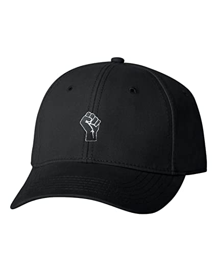 a1c990bf3c Go All Out Adjustable Black Adult Fist Embroidered Dad Hat Structured Cap