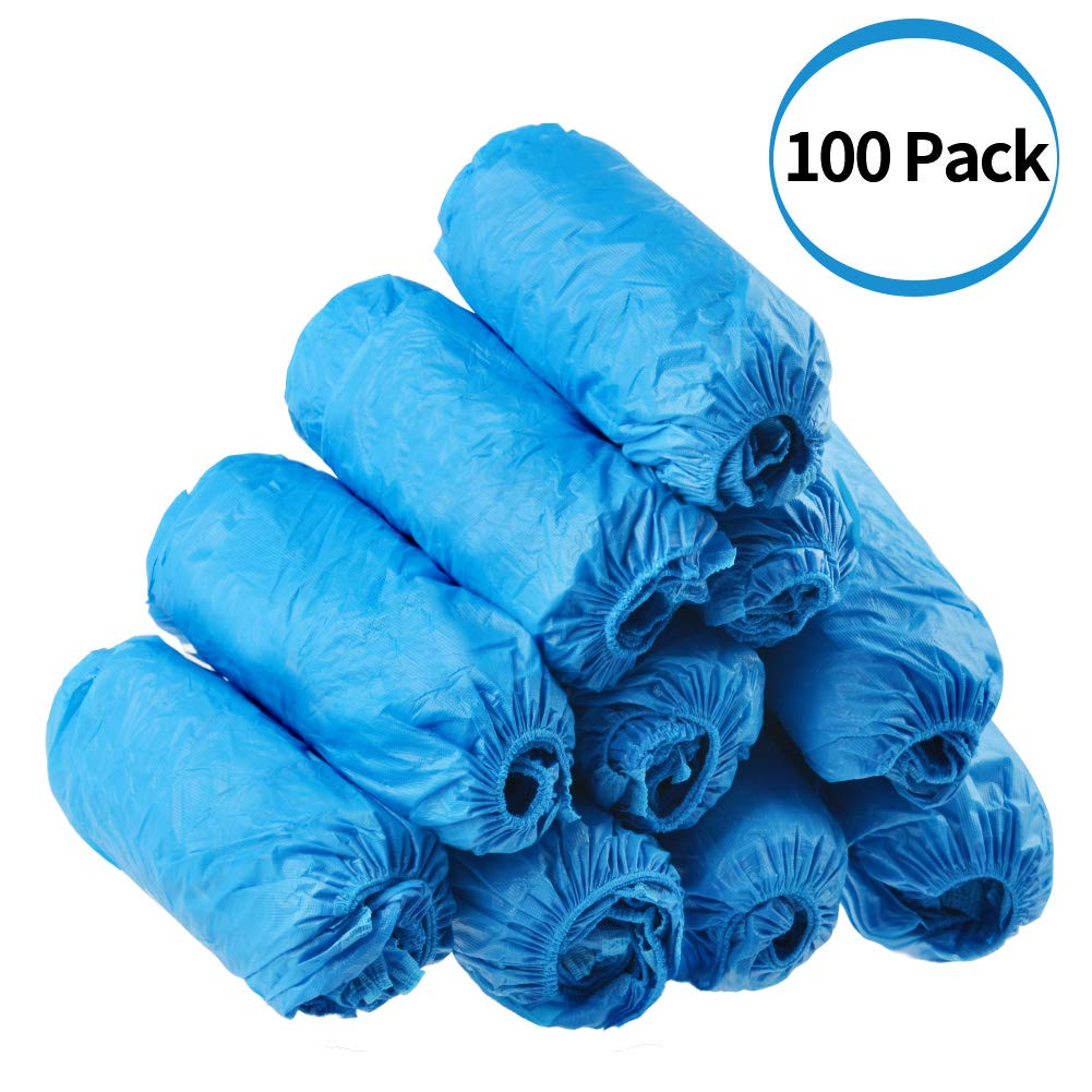 Dssiy 100 Pack Disposable Hygienic Shoe & Boot Covers for Medical, Construction, Workplace, Indoor Carpet Floor Protection,One Size Fits Most.