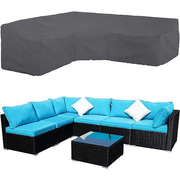 Anddod Outdoor Sofa Furniture Cover Rattan Cube Garden Patio Waterproof Dustproof Protector