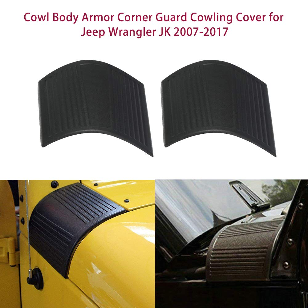 Godyluck Cowl Body Armor Corner Guard Cowling Cover for Jeep Wrangler JK 2007-2017