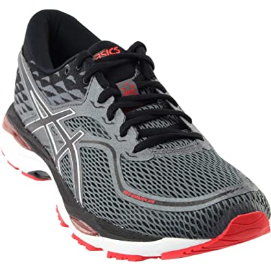 ASICS Men's Gel Cumulus 19 Running Shoe, BlackCarbonRed, 9