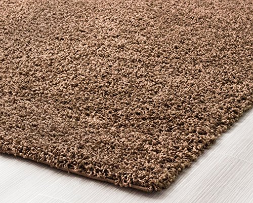 Brown Shag Rug 5 Feet By 8 Feet 5x8 Solid Amp Thick Stain