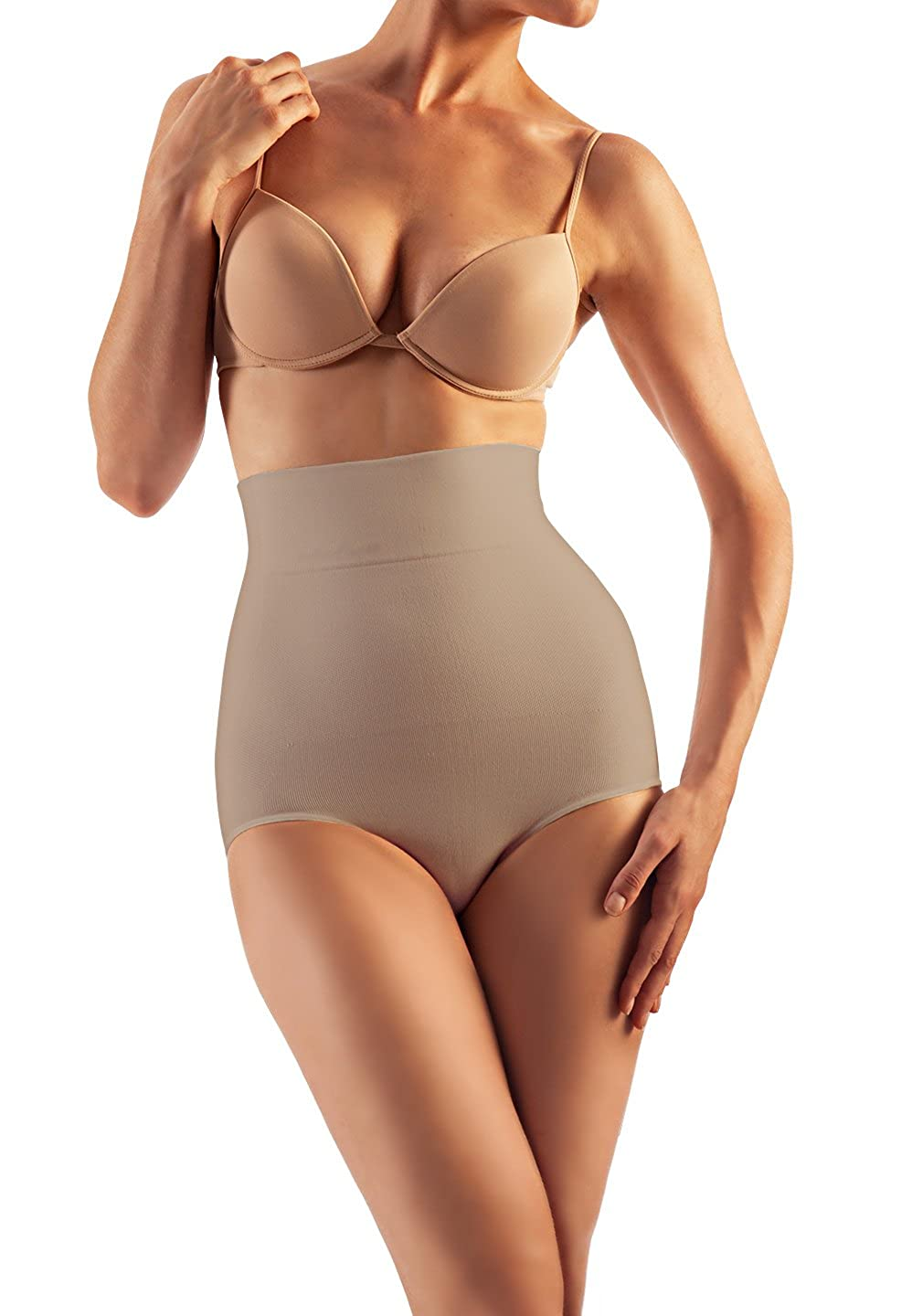 Farmacell Shape Cotton 611 (Nude, L) High-Waisted Shaping Control Briefs Belly Control Effect Calze G.T. S.r.l. SLVACMODCFC/CONF_0240054