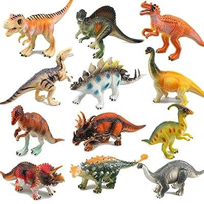RICOV Dinosaur Toys, Toy Dinosaurs Kids Dinosaur Toys for Girls/Boys - 12Pack: Toys & Games