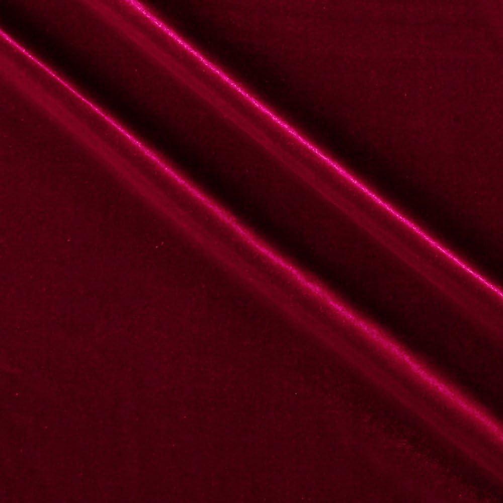 Ben Textiles Stretch Velvet, Yard, Cranberry