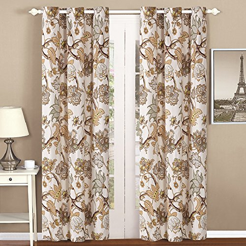 All American Collection New 4pc Printed Modern Geometric Curtain Set for The Bedspread Coverlet Set (Curtain Set) (Curtain Set, ()