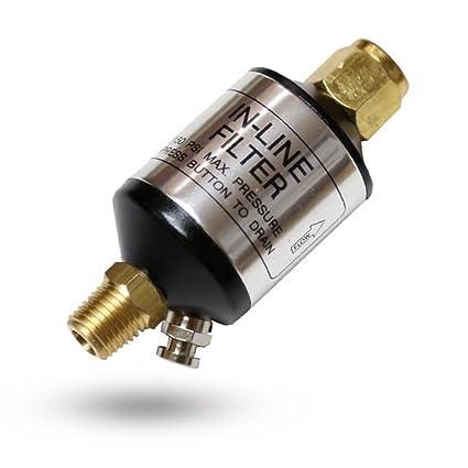 Lematec Compresor filtro separador agua y aceite con válvula de drenaje. Para herramientas de aire