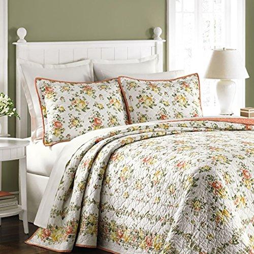 Martha Stewart Collection Rose Cottage Standard Sham White Standard ()