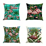 Best Cotton Pillow With Flamingos - SYH003 Decorative Flamingo Cotton Linen Throw Pillow Covers Review