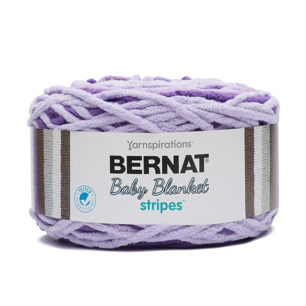 Bernat Baby Blanket Stripes Yarn Purple Power Bernat®