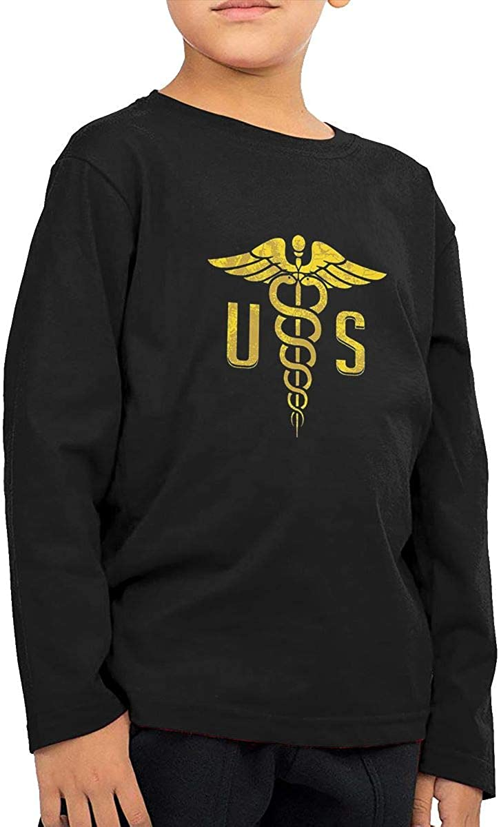 NOT Us Army Medical Corps Boys Kids Fashion ChildLong Sleeve T-Shirt Long Sleeve Shirt