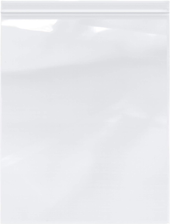 "Plymor Heavy Duty Plastic Reclosable Zipper Bags, 4 Mil, 12"" x 15"" (Pack of 100)"