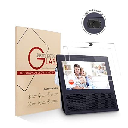 1x Tempered Glass Screen With Webcam Cover for Amazon Echo Show 1ST Generation