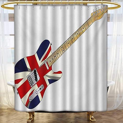 Lacencn Union Jack, cortinas de ducha, impresión digital 3D ...