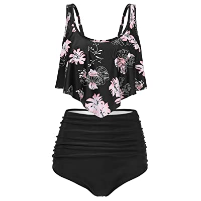 BAISHENGGT Women's Swimsuits Two Pieces Bathing Suits High Waisted Bottom Bikini: Clothing
