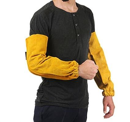 Manga de soldador Para soldatura De trabajo De piel cuero Seguridad Brazo Proteccion Guantes Mangas industriales