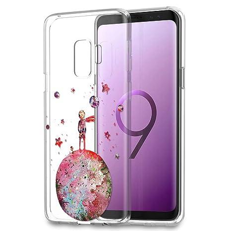 02395340d99 YOEDGE Funda Samsung Galaxy S9 Ultra Slim Cárcasa Silicona Transparente con  Dibujos Animados Diseño Patrón [