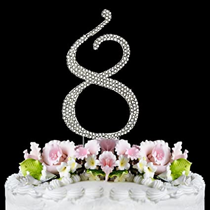 Amazon Rhinestone Cake Topper Number 8 By Other Kitchen Dining
