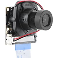 Serounder Raspberry Pi Manual IR-Cut Cámara de visión Nocturna Módulo de Enfoque Ajustable HD 5MP Webcam OV5647 1080p Video con 2Pcs Luz de Relleno para Raspberry Pi 2 / B +