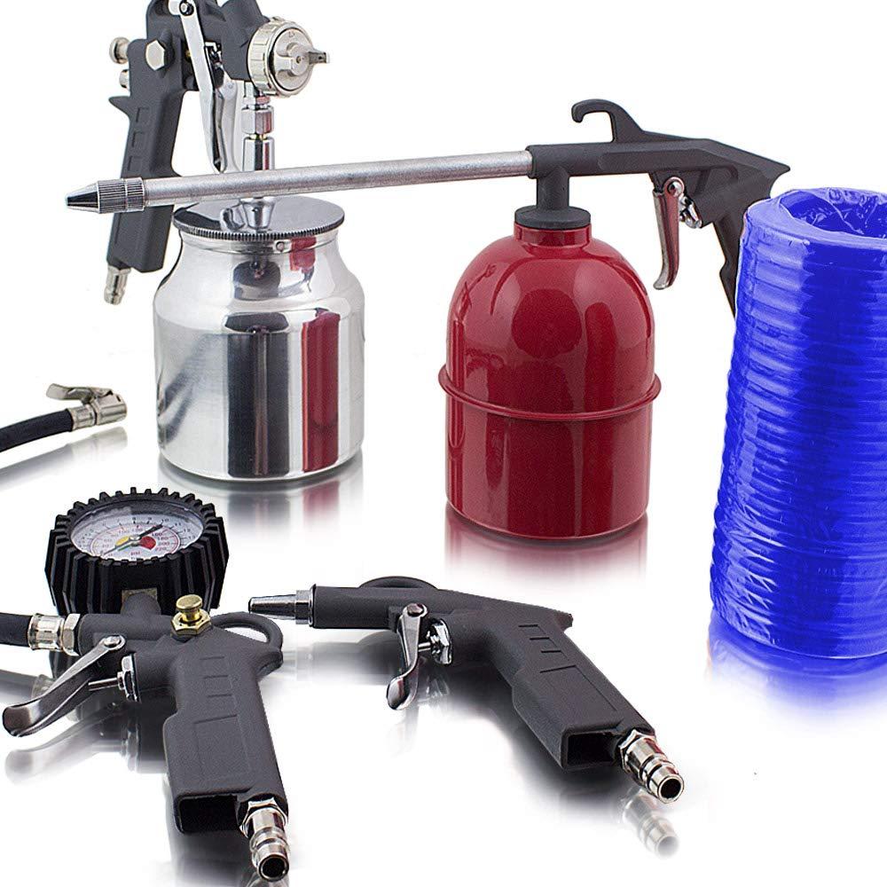 5 teiliges Set accessori per aria compressa per compressore aria pneumatici pressione pistola ad aria compressa pistola a spruzzo verniciamo MS-Point