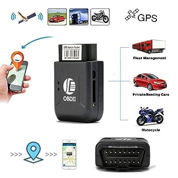 GPS Tracker Localizador Localizador GPS para Coche Tiempo Real Rastreador GPS Coche Inalambrico OBD2 OBDII GPS