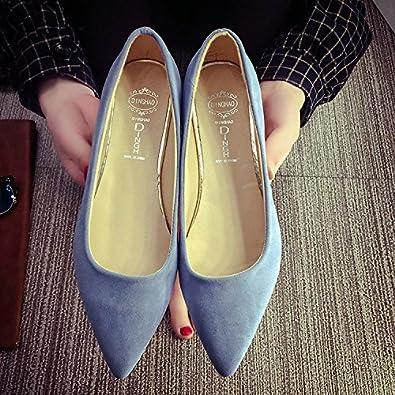 Frauen Schuhe Spitz Flach Bow Tie Flachen Mund Dünne Schuhe Casual, 39, Weiß