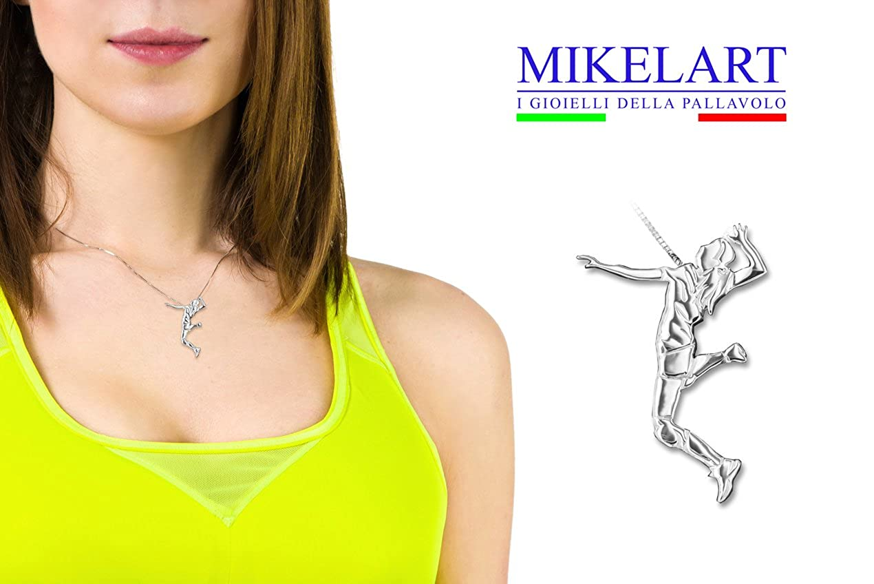 MIKELART Pendant Volleyball Jewel Fast Spike Attack