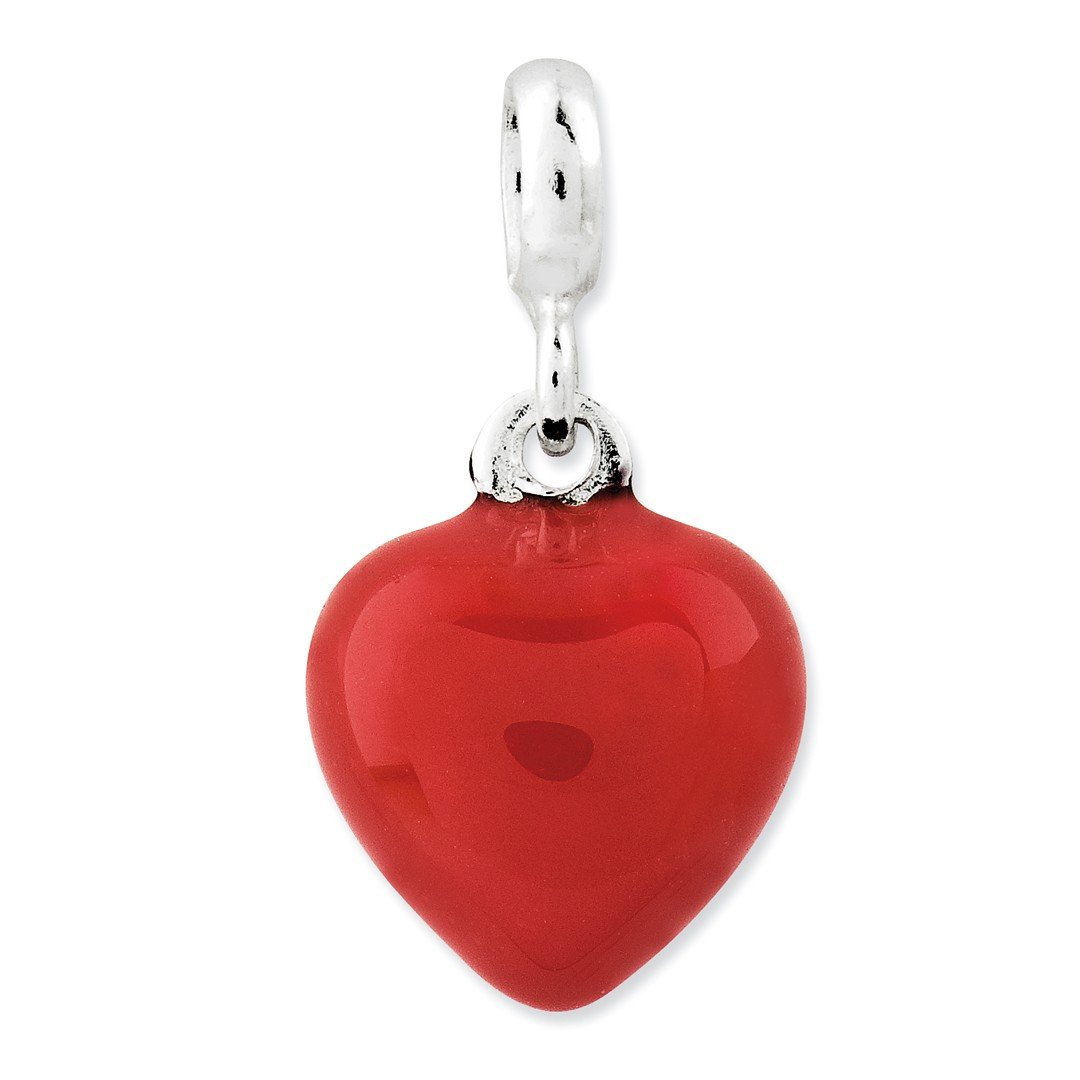 ICE CARATS 925 Sterling Silver Red Enameled Heart Enhancer Necklace Pendant Charm Love Fine Jewelry Ideal Gifts For Women Gift Set From Heart