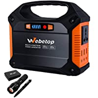 Deals on Webetop Portable Generator 42000mAh Power Inverter Battery