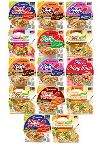 Ramen Bowl Instant Noodles Variety Combo Sampler Pack (14 Count)