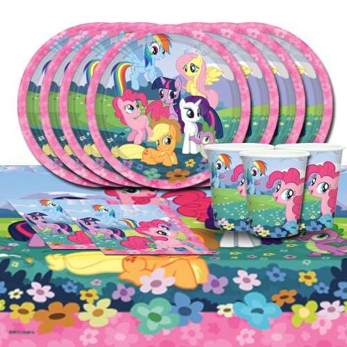 My Little Pony Friendship Children Birthday Complete Party Tableware Pack For 16 by BirthdayExpress