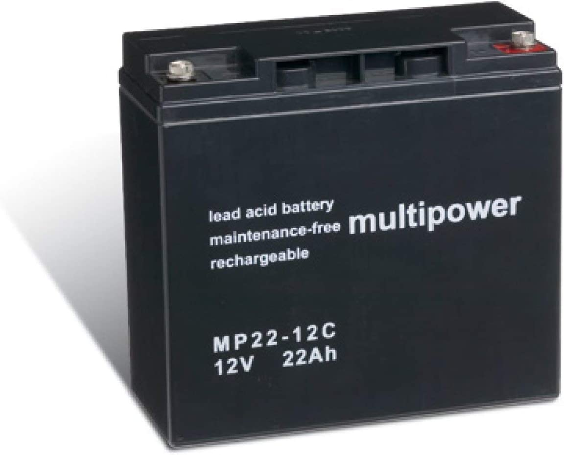 Powery Batería Plomo-ácido (multipower) para Silla de Ruedas Eléctrica Invacare Lynx SX-3