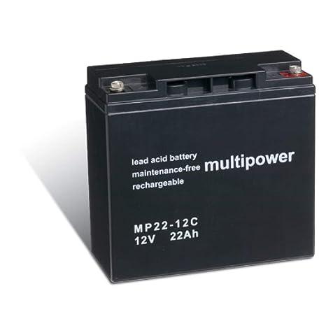 Powery Batería Plomo-ácido (multipower) para Silla de Ruedas Eléctrica Alber E-