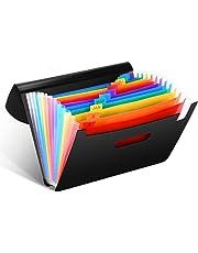 Veyette Portátil Archivador acordeón 12 Bolsillos Capacidad Soporte Extensible Acordeón, Multi-Color Archivador A4