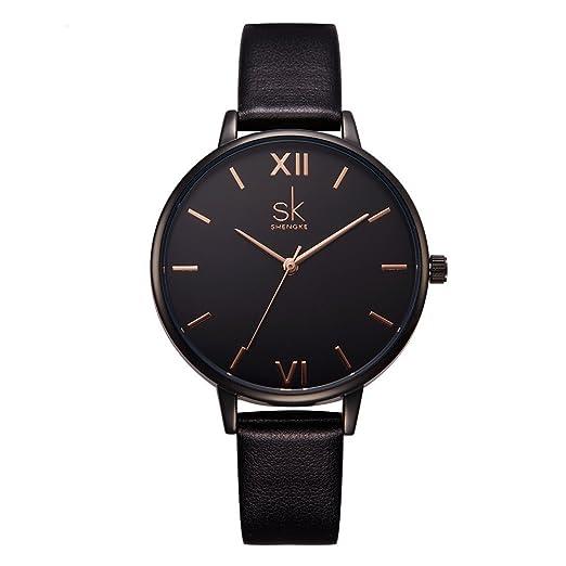 shengke señoras Reloj de Pulsera Creativas Mujeres Relojes Marca Reloj de Lujo Mujeres Malla Vestido Reloj k0039l: Amazon.es: Relojes