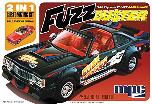 C.P.M. MPC MPC843 1:25 Scale 2-in-1 1980 Plymouth Volar Fuzz Duster Model Kit