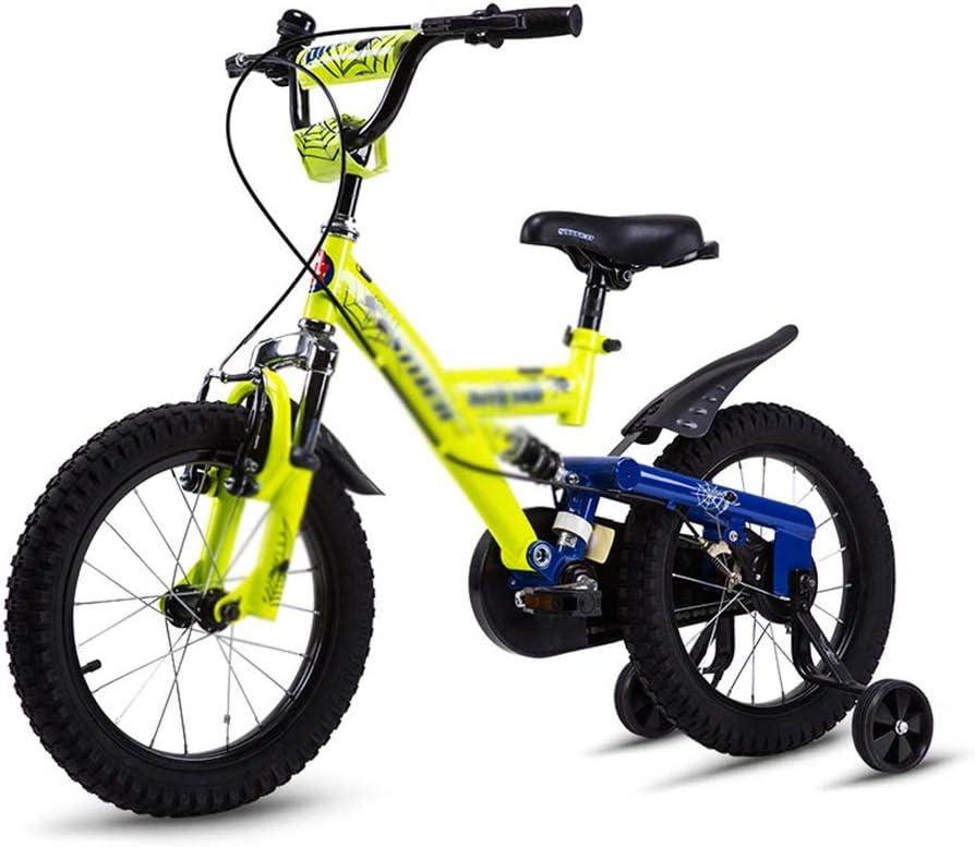Ppy778 Bicicleta para niños de 3 a 8 años de Edad, carruaje Masculino y Femenino, 16 Pulgadas de Choque, Doble Freno, Seguridad de operación (Color : Red, Size : 16INCH(113 * 16 *