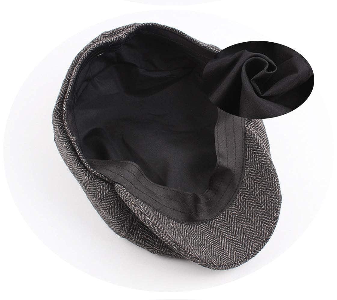 COUCOU Age Unisex Vintage Beret Newsboy Flat Ivy Cap Hat for Men Autumn Winter Gift