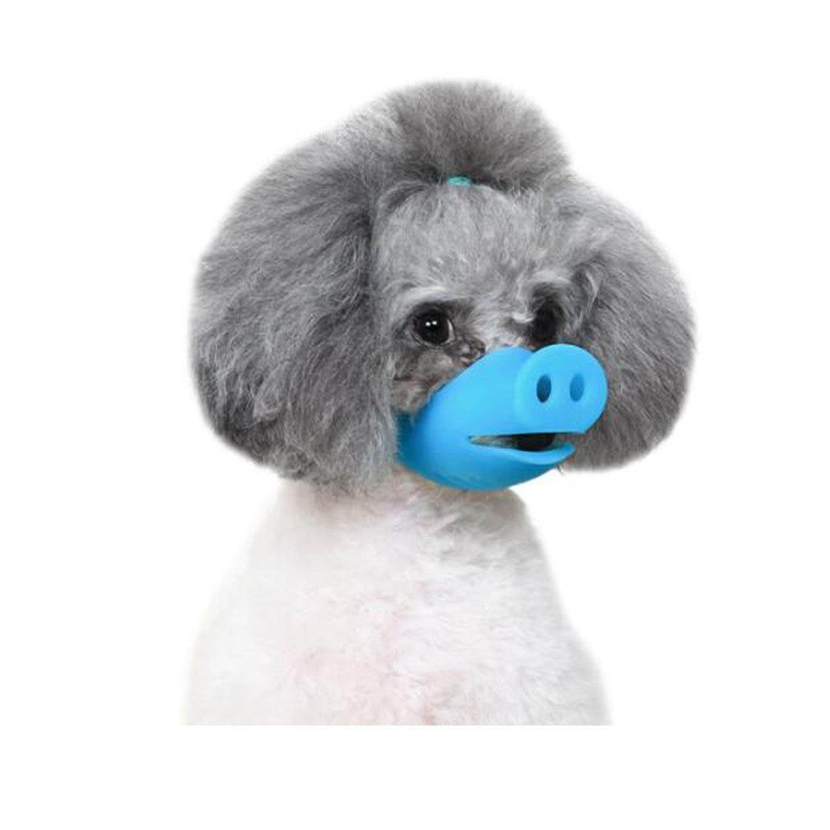HENGTONGTONGXUN Dog Mouth Cover Anti-Breathing Disorder Eating Food can Adjust pet Dog Mouth cage Small/Large (Color : Blue, Size : S)