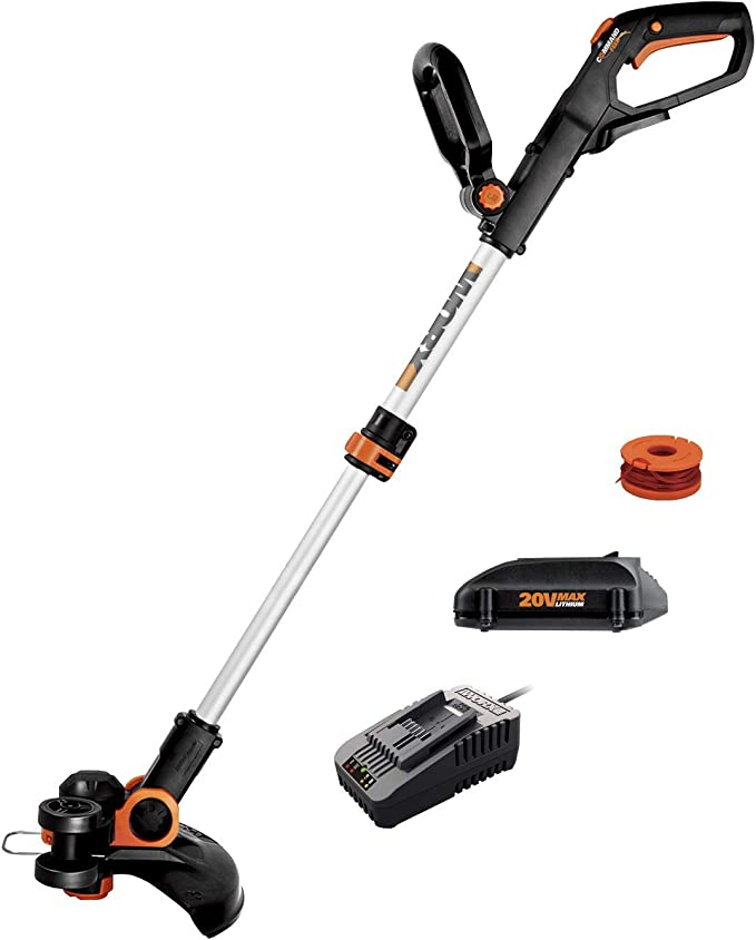 WORKPRO 20V Cordless String Trimmer//Edger 16.4ft Trimmer Line Included 1 Hour Quick Charger 12-inch with 2Ah Lithium-Ion Battery
